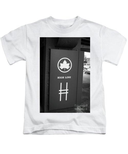 High Line Park Nyc Kids T-Shirt