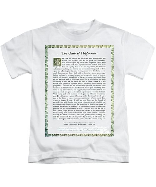 Hippocratic Oath, 1938 Kids T-Shirt