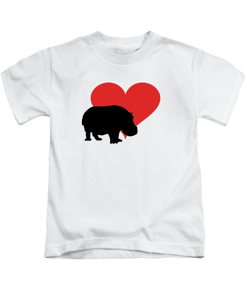 Hippopotamus Kids T-Shirt by Mordax Furittus