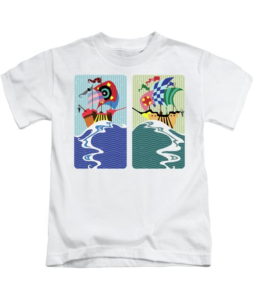 Historic Sail Boats,cartoon  Kids T-Shirt
