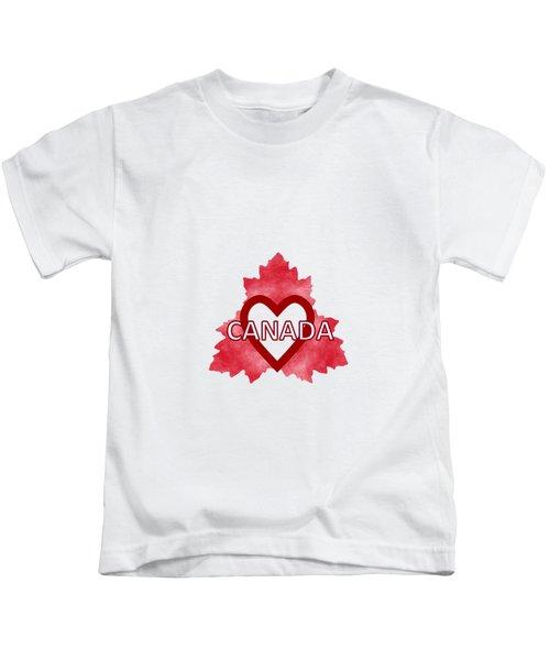 Home Sweet Canada Kids T-Shirt by Kathleen Sartoris