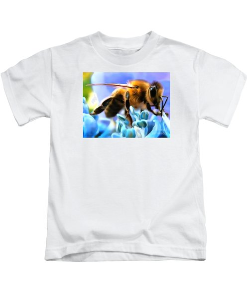 Honey Bee In Interior Design Thick Paint Kids T-Shirt