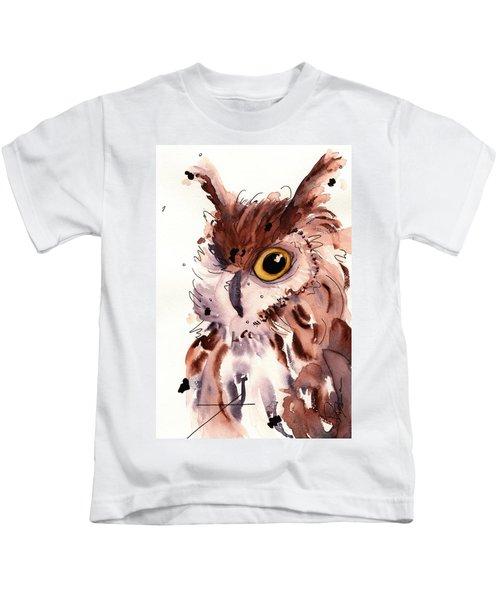 Horned Owl Kids T-Shirt