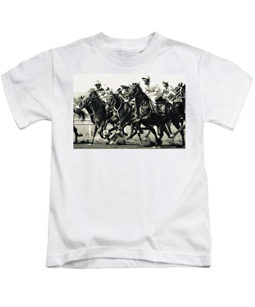 Horse Competition Vi - Horse Race Kids T-Shirt