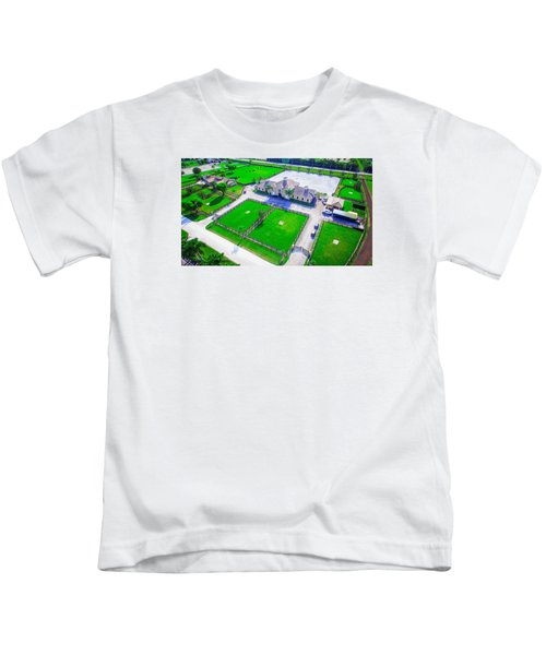 Horse Farm Aerial Kids T-Shirt