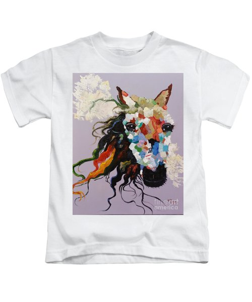 Puzzle Horse Head  Kids T-Shirt