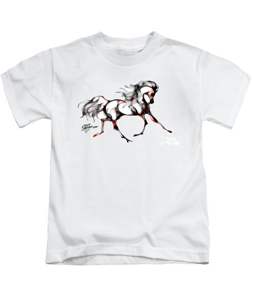 Horse In Extended Trot Kids T-Shirt