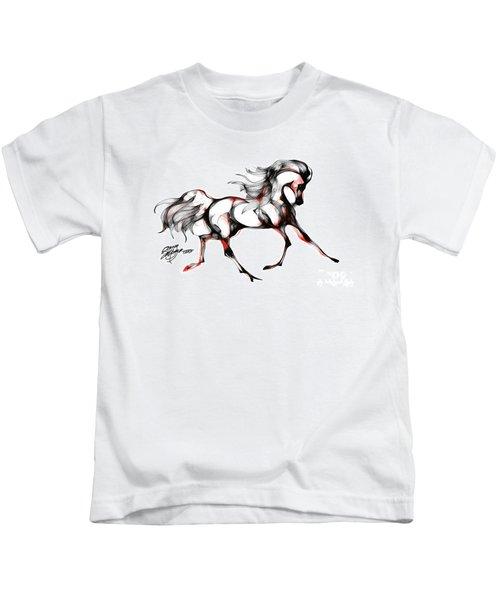 Horse In Extended Trot Kids T-Shirt