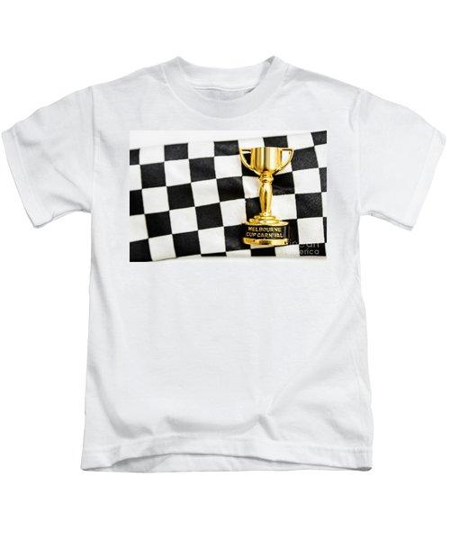 Horse Races Trophy. Melbourne Cup Win Kids T-Shirt