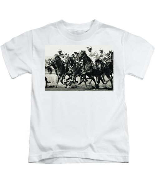 Horse Racing Kids T-Shirt