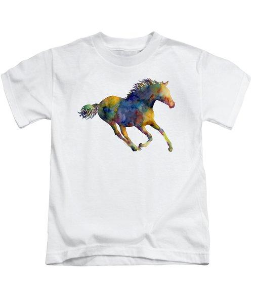 Horse Running Kids T-Shirt