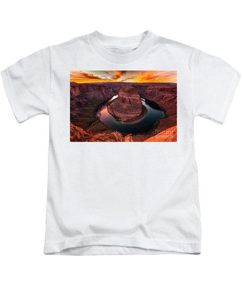Horseshoe Bend, Colorado River, Page, Arizona  Kids T-Shirt