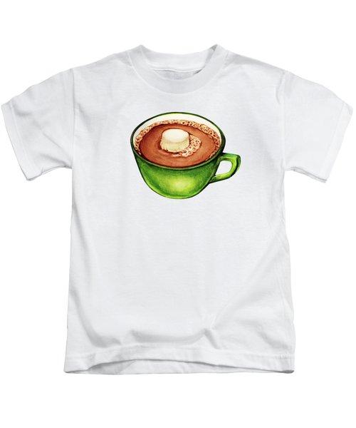 Hot Cocoa Pattern Kids T-Shirt