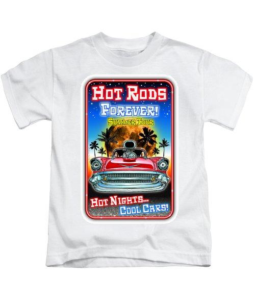 Hot Rods Forever Summer Tour Kids T-Shirt