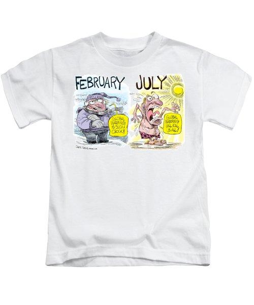 Hot Summer Global Warming Kids T-Shirt