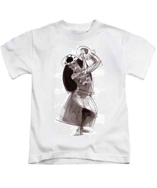 Hula Dancer Alika Kids T-Shirt
