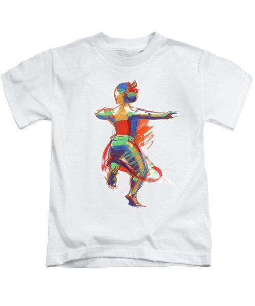 Hula Wahine Ikaika Kids T-Shirt