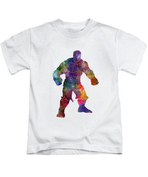 Hulk 01 In Watercolor Kids T-Shirt