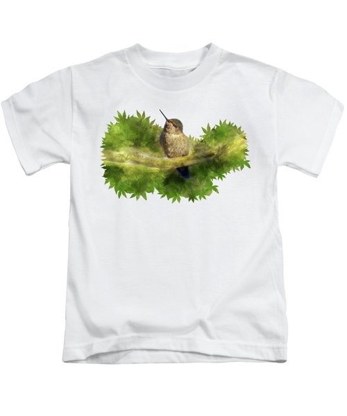 Hummingbird In A Tree Kids T-Shirt