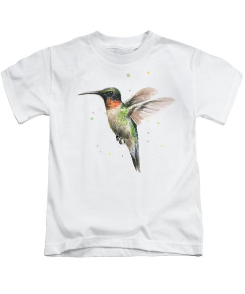 Hummingbird Kids T-Shirt by Olga Shvartsur