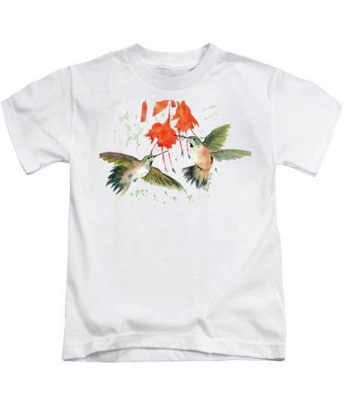 Hummingbird Watercolor Kids T-Shirt