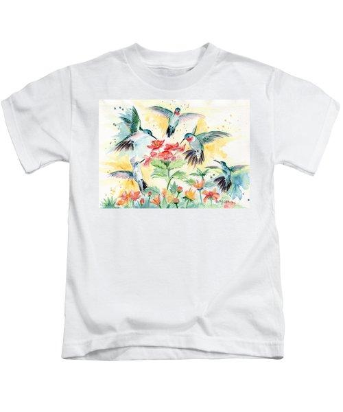 Hummingbirds Party Kids T-Shirt