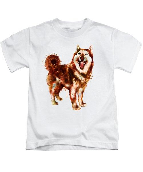 Husky Dog Watercolor Kids T-Shirt