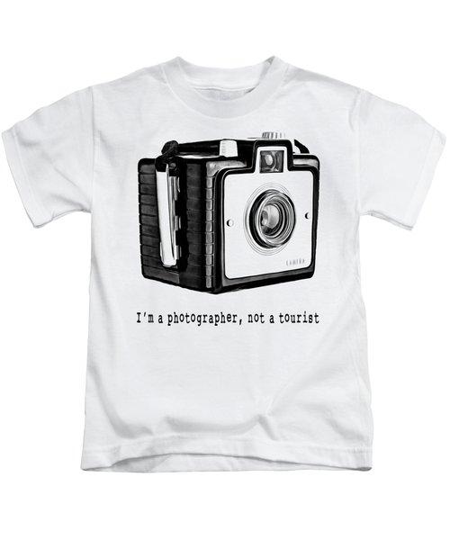 I Am A Photographer Not A Tourist Tee Kids T-Shirt