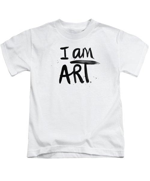 I Am Art Black Ink - Art By Linda Woods Kids T-Shirt
