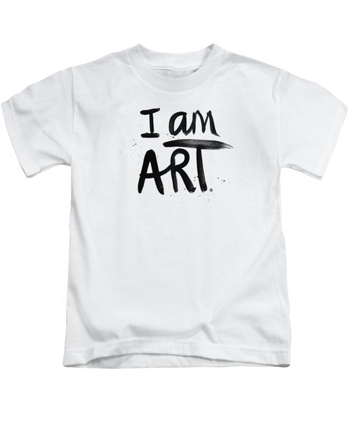 I Am Art Black Ink - Art By Linda Woods Kids T-Shirt