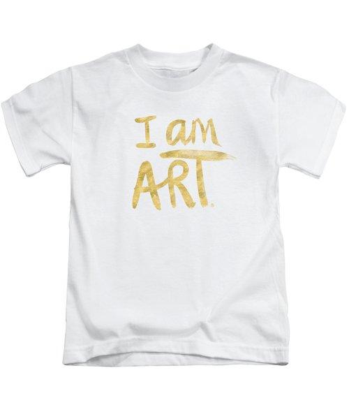 I Am Art Gold - Art By Linda Woods Kids T-Shirt