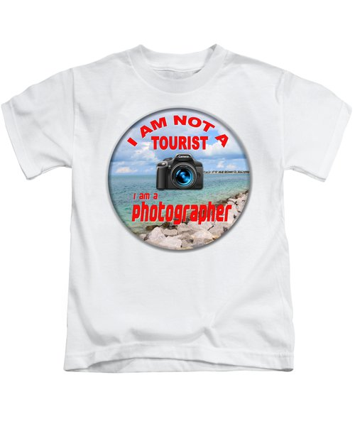 I Am Not A Tourist Kids T-Shirt