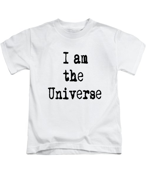 I Am The Universe Quote Prints, All Is One, Art Print Posters, Crown Chakra Kids T-Shirt