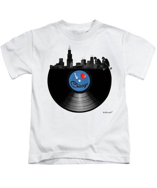 I Love Chicago Kids T-Shirt by Glenn Holbrook