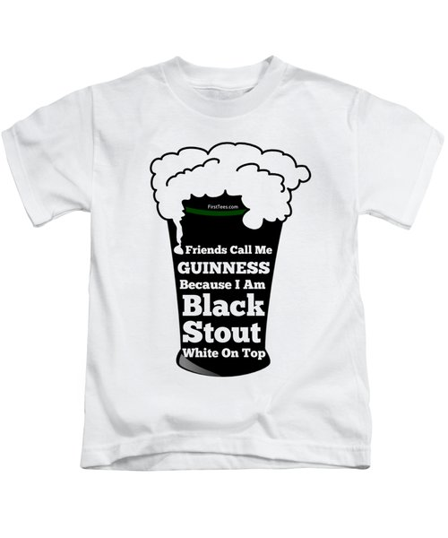I Love Guinness  Kids T-Shirt by FirstTees Motivational Artwork