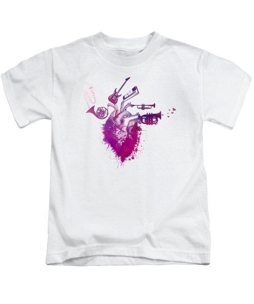 I Love Music - Music My Love Red Kids T-Shirt