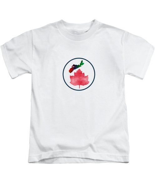 I Love Nova Scotia Canada Kids T-Shirt by Kathleen Sartoris