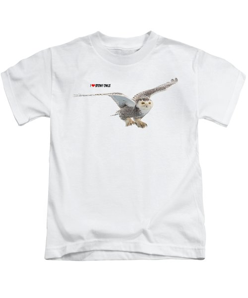 I Love Snowy Owls T-shirt Kids T-Shirt