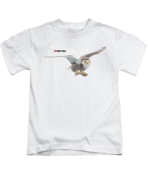 I Love Snowy Owls T-shirt Kids T-Shirt