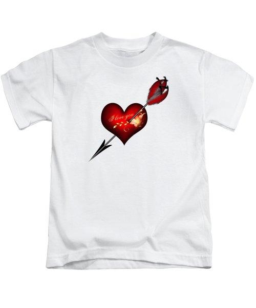 I Love You Heart And Arrow Kids T-Shirt