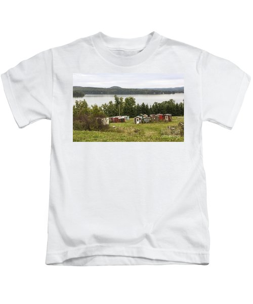 Ice Houses In Vermont Kids T-Shirt