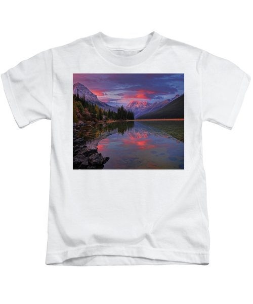Icefields Parkway Autumn Morning Kids T-Shirt
