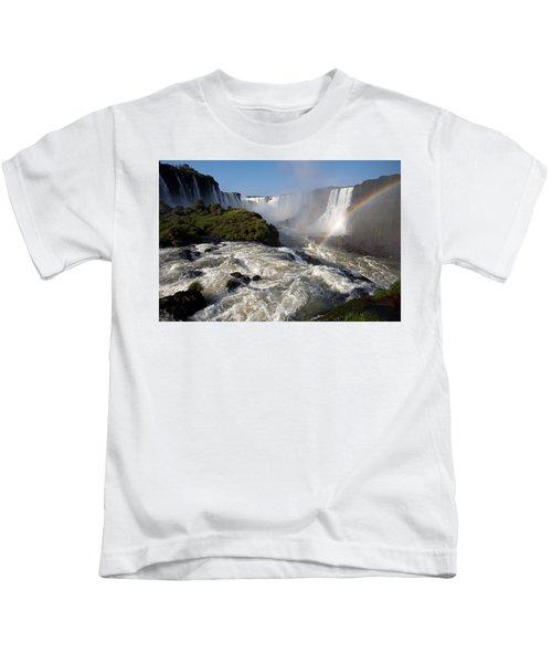 Iguassu Falls With Rainbow Kids T-Shirt