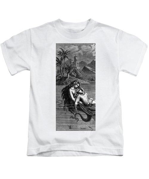 Illustration For The Little Mermaid Kids T-Shirt