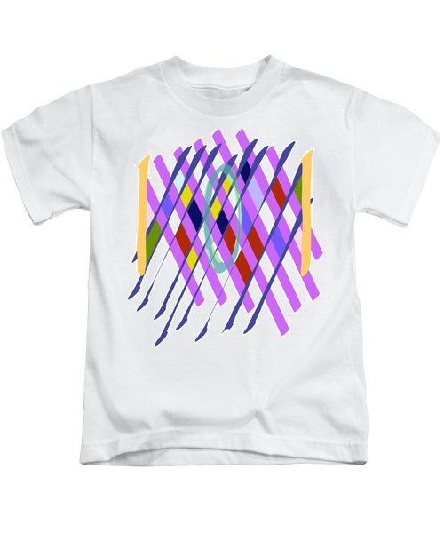 Improvised Geometry #1 Kids T-Shirt