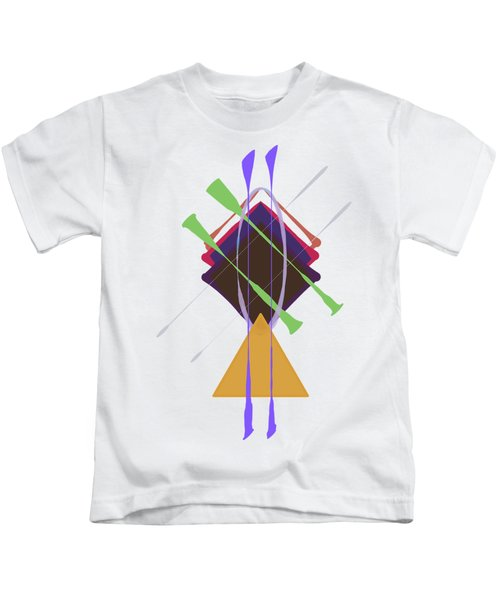 Improvised Geometry #3 Kids T-Shirt