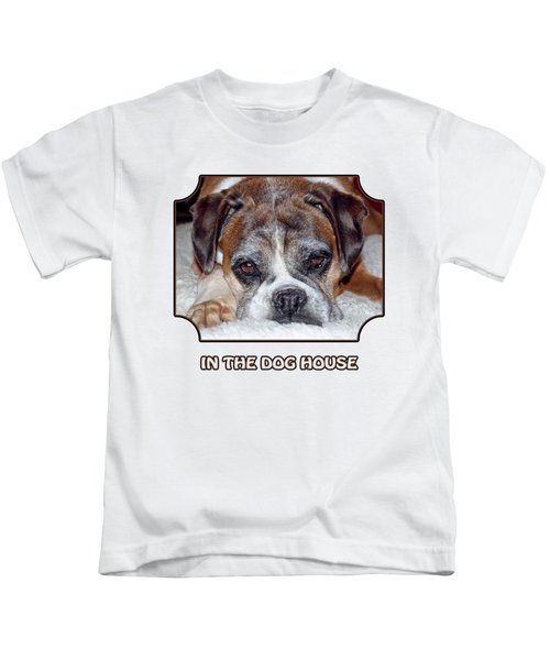 In The Dog House - White Kids T-Shirt
