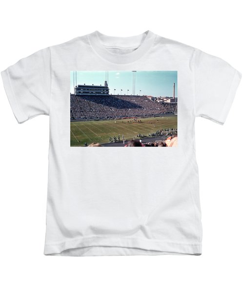 d83b046f9fb In This Vintage 1955 Photo The University Of Texas Longhorn Foot Kids T- Shirt