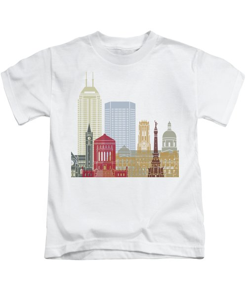 Indianapolis Skyline Poster Kids T-Shirt