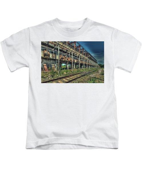 Industrial Archeology Railway Silos - Archeologia Industriale Silos Ferrovia Kids T-Shirt